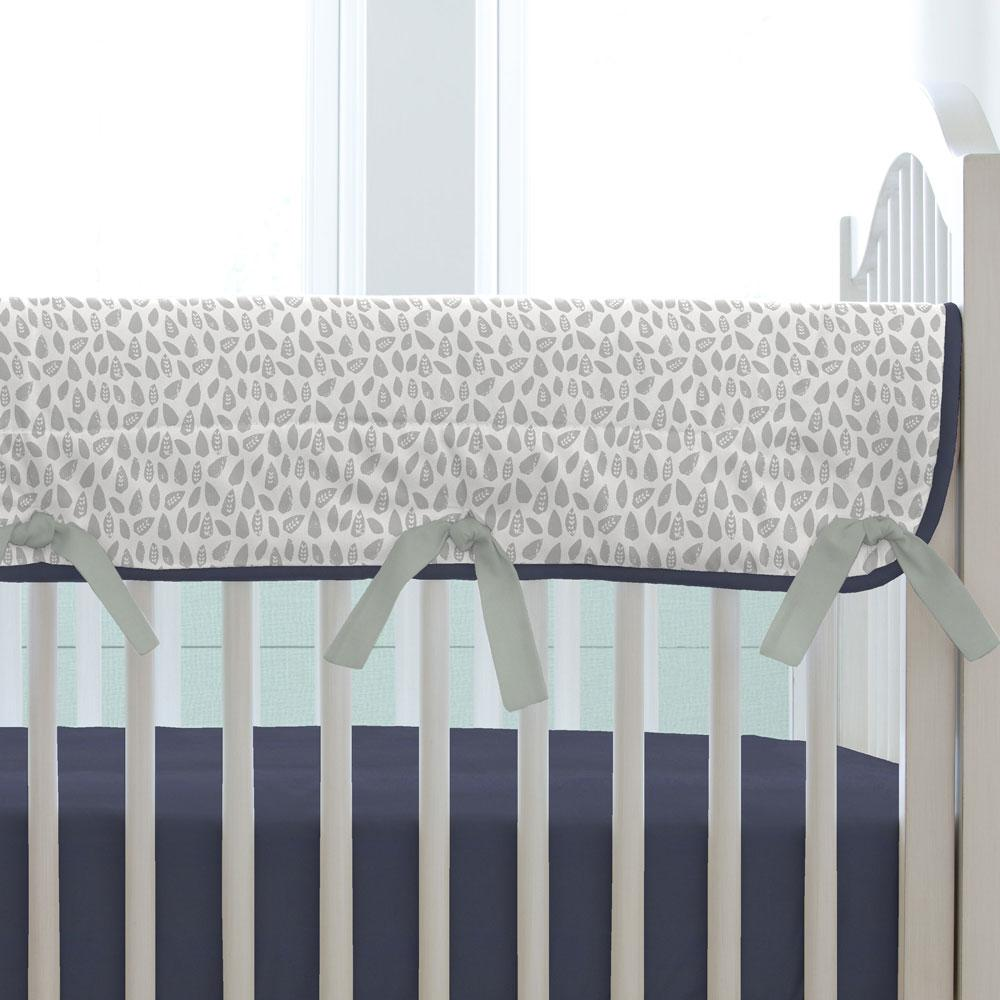 Product image for Gray Woodland Leaf Crib Rail Cover