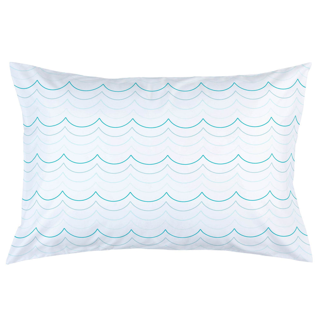 Product image for Teal Wave Stripe Pillow Case