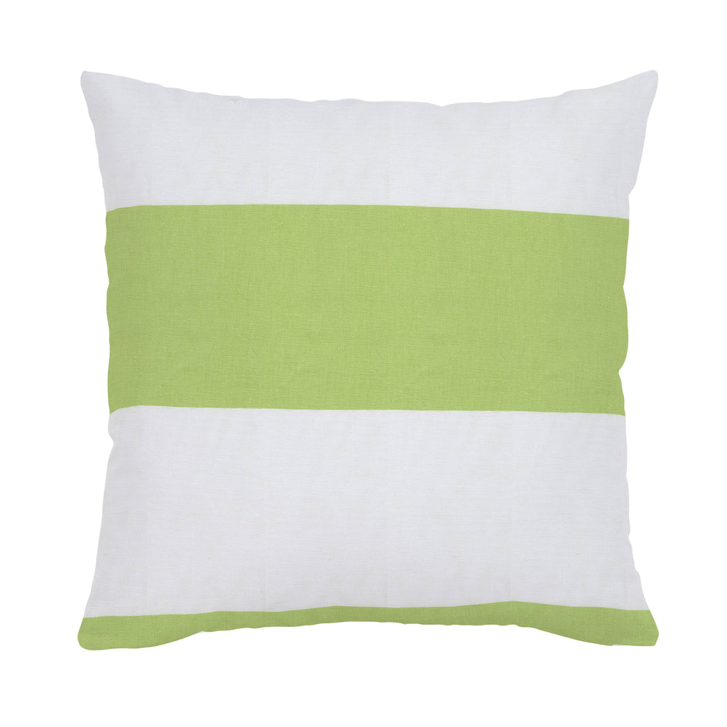 Product image for Kiwi Horizontal Stripe Throw Pillow