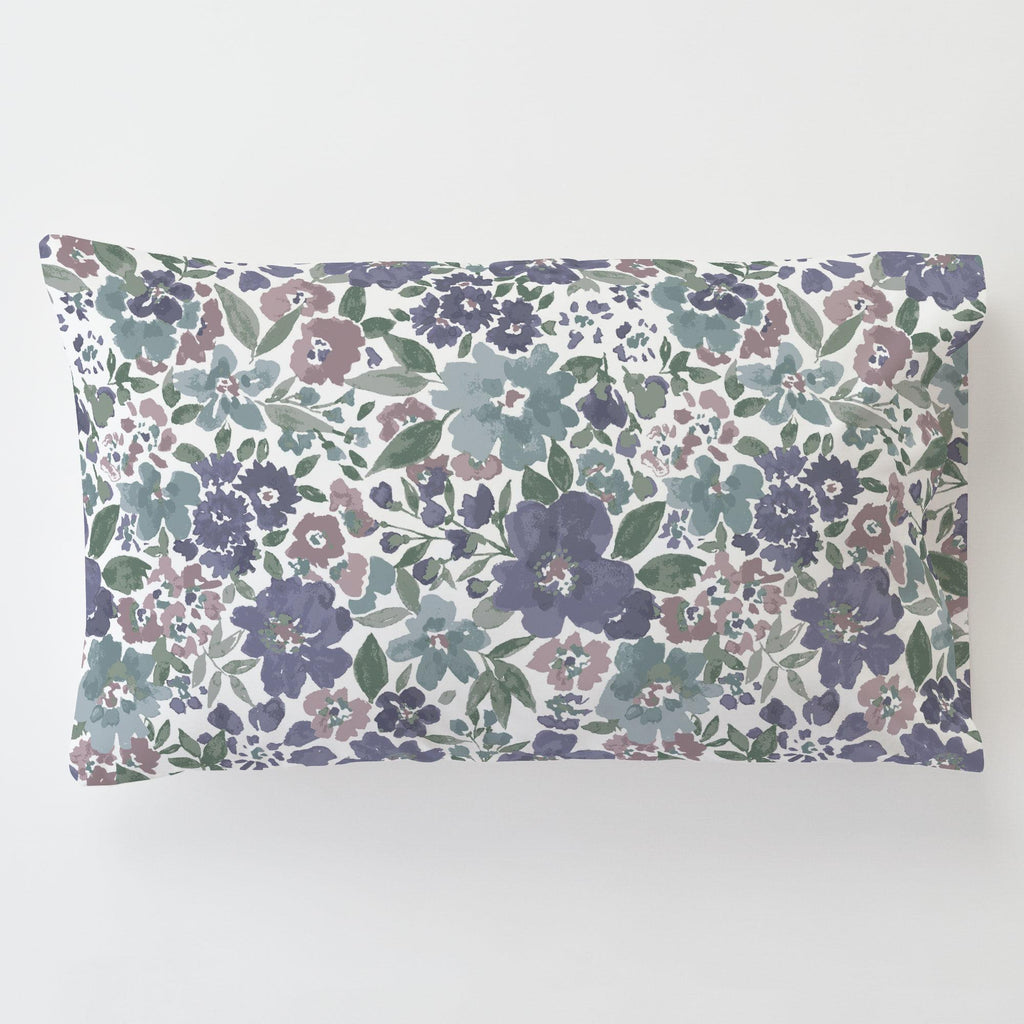 Product image for Purple Prairie Floral Toddler Pillow Case with Pillow Insert