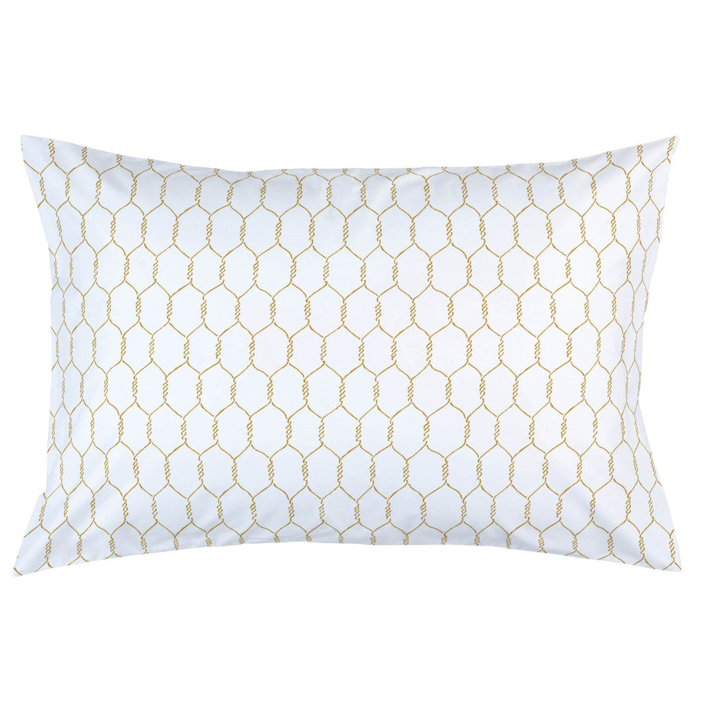 Product image for Mustard Farmhouse Wire Pillow Case
