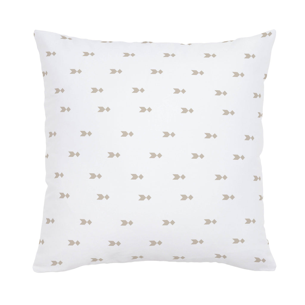 Product image for Taupe Flying Diamonds Throw Pillow
