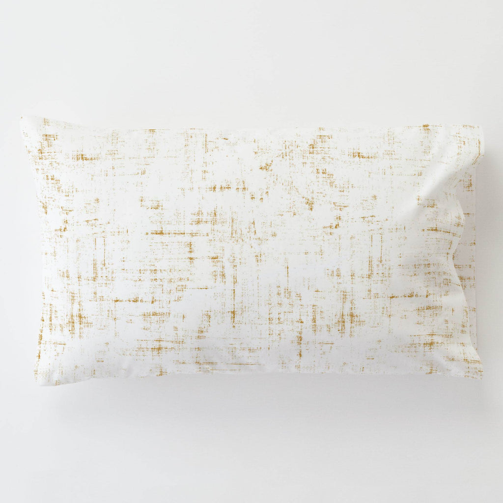 Product image for Mustard Distressed Toddler Pillow Case with Pillow Insert