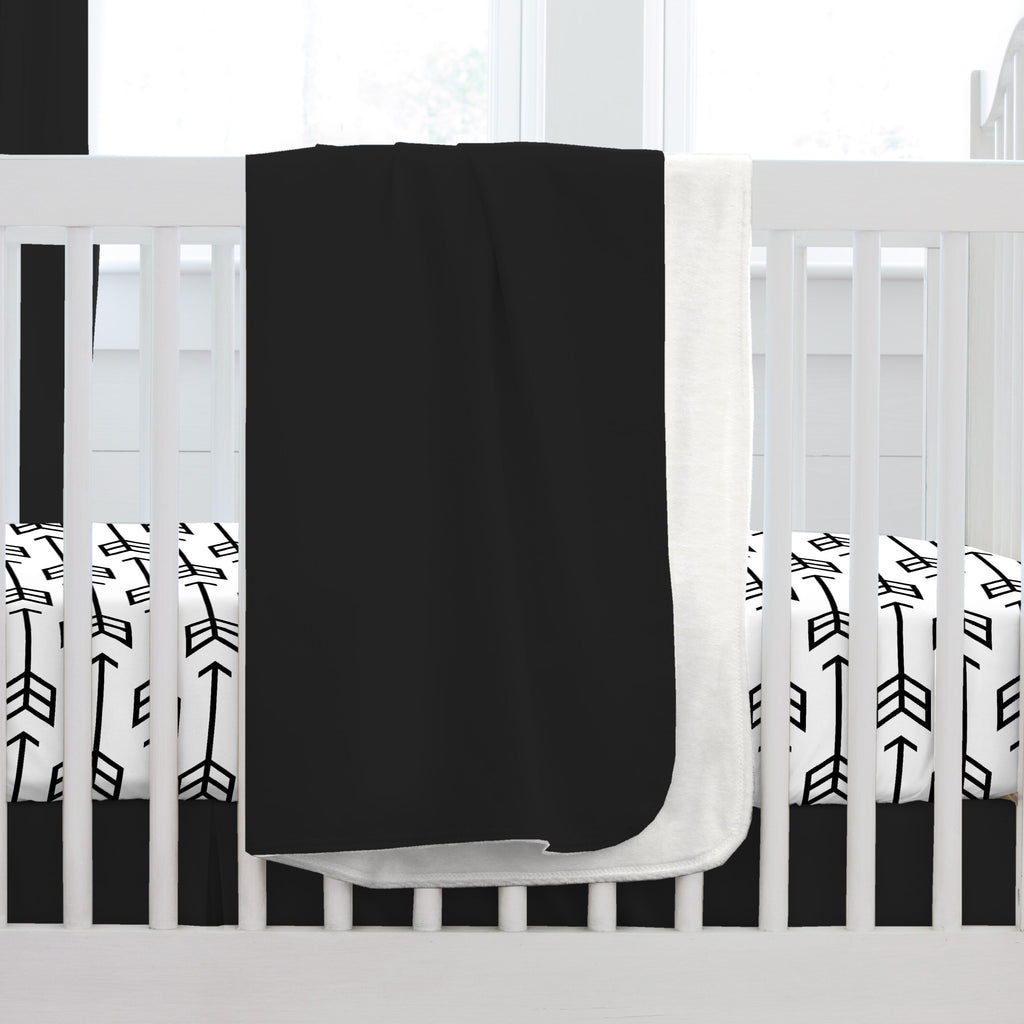 Product image for Solid Black Baby Blanket
