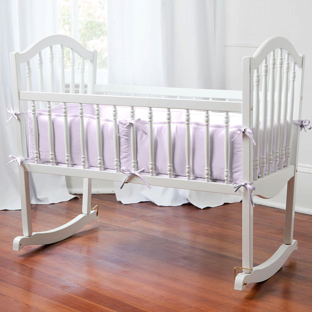 Product image for Solid Lilac Cradle Bumper