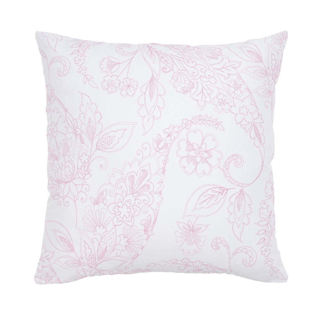 Product image for Bubblegum Sketchbook Floral Throw Pillow
