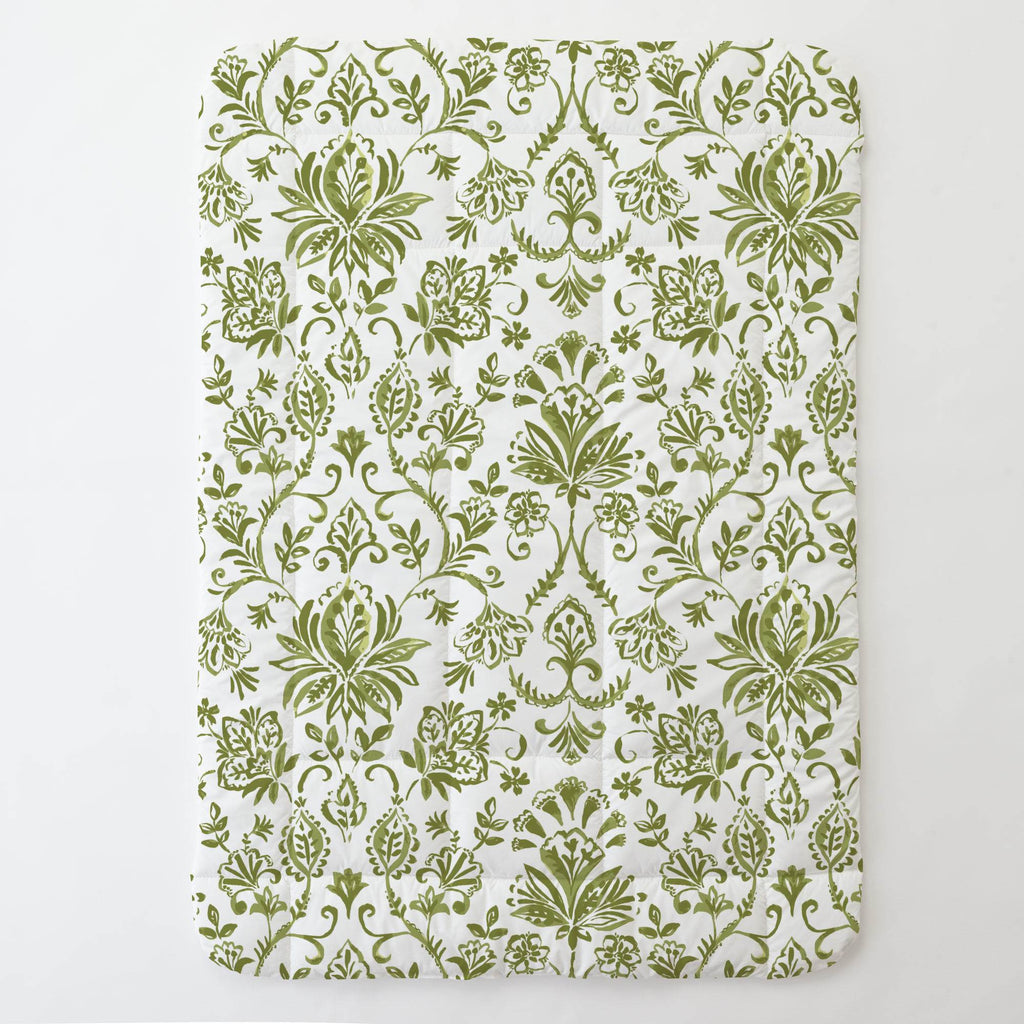 Product image for Sage Coastal Damask Toddler Comforter