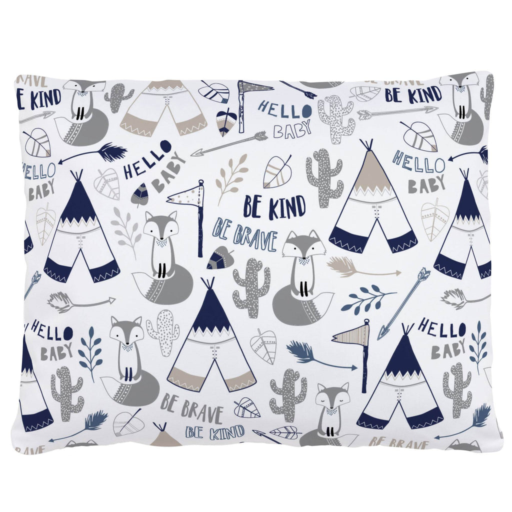 Product image for Navy Brave Fox Accent Pillow