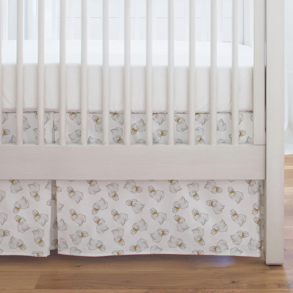 Product image for Painted Bunnies Crib Skirt Single-Pleat