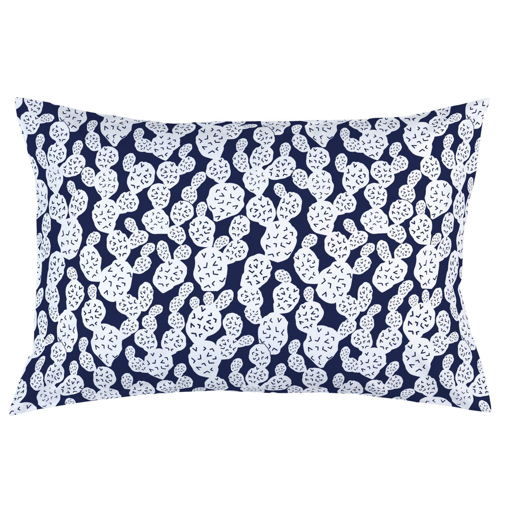 Product image for Navy Prickly Pear Pillow Case