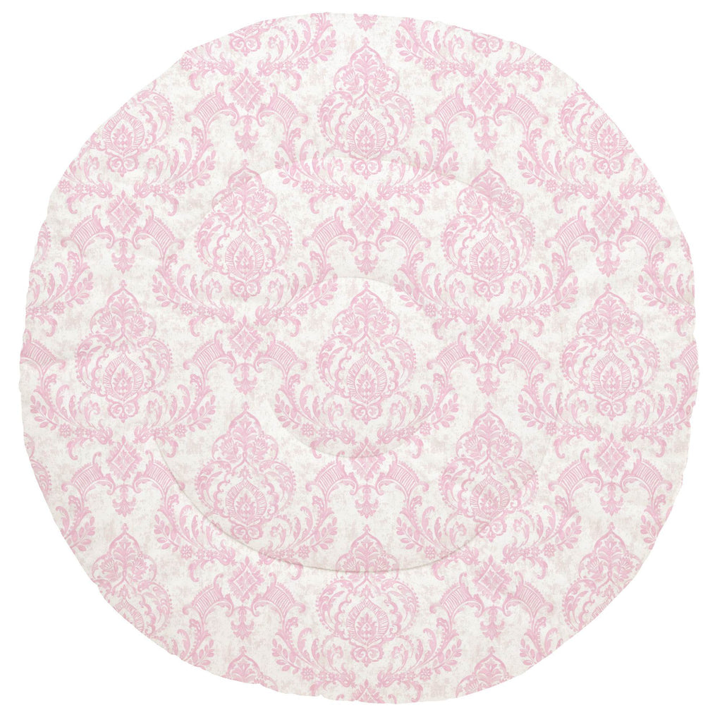 Product image for Pink Painted Damask Baby Play Mat