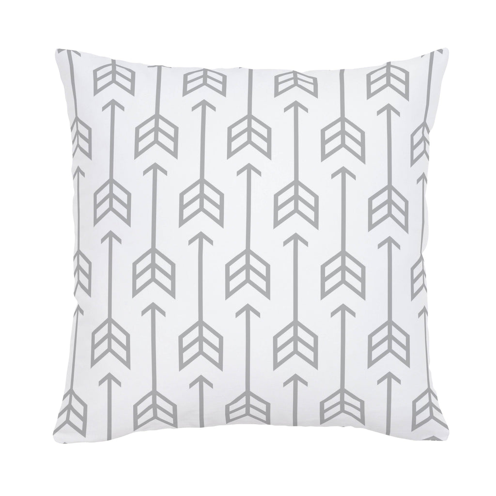 Product image for Silver Gray Arrow Throw Pillow