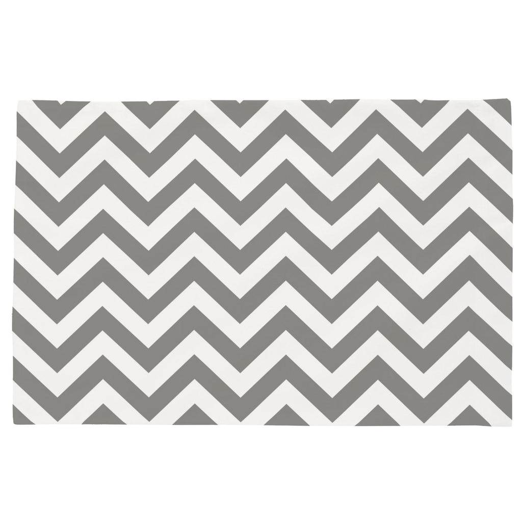 Product image for White and Gray Zig Zag Toddler Pillow Case