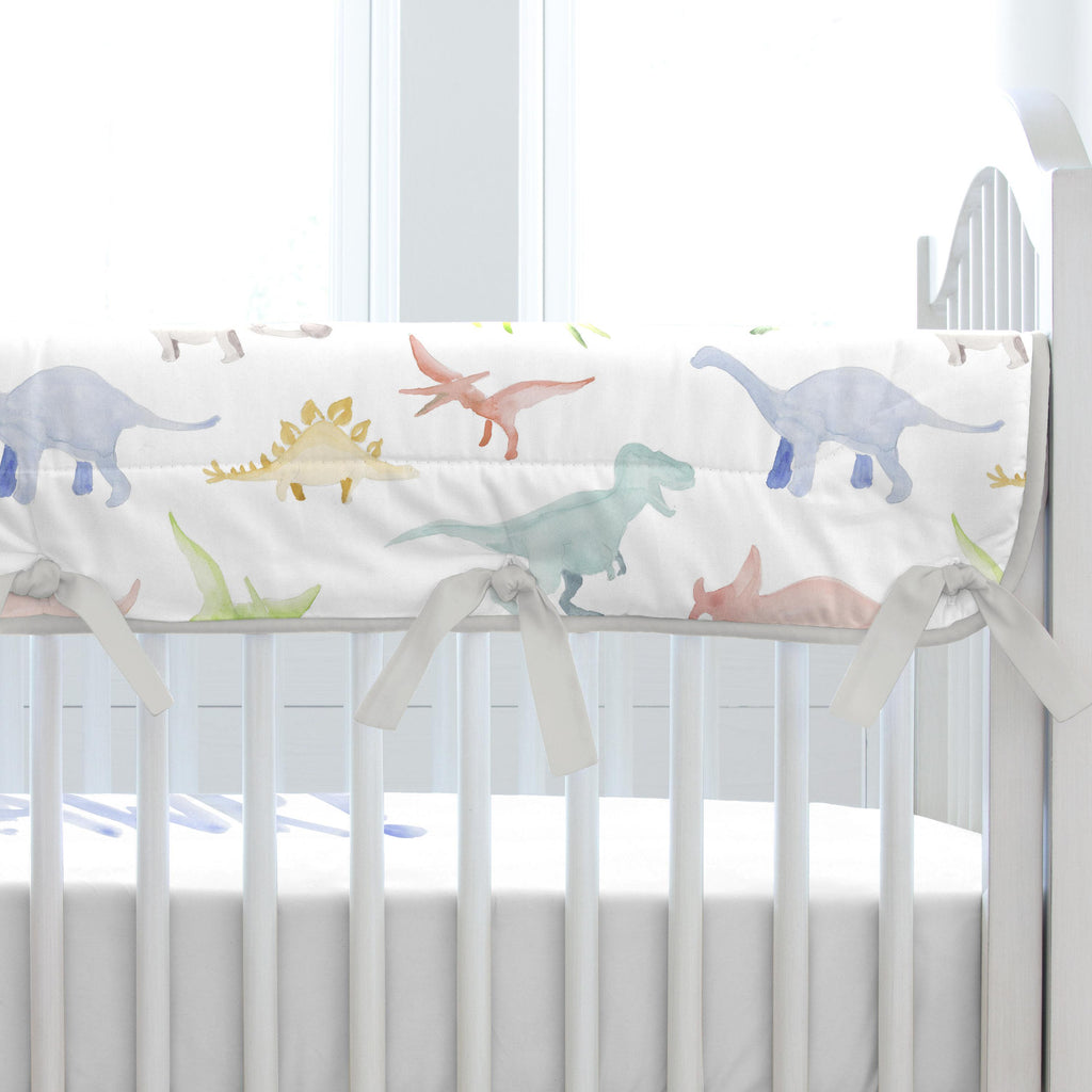 Product image for Watercolor Dinosaurs Crib Rail Cover