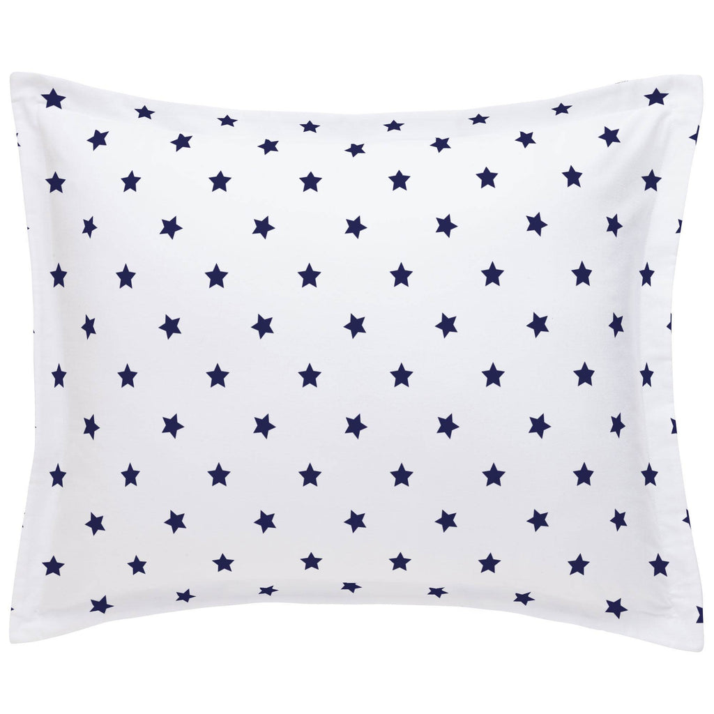 Product image for Navy Stars Pillow Sham