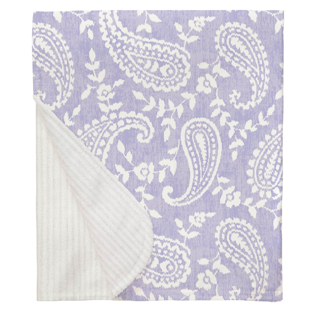 Product image for Lilac Paisley Baby Blanket