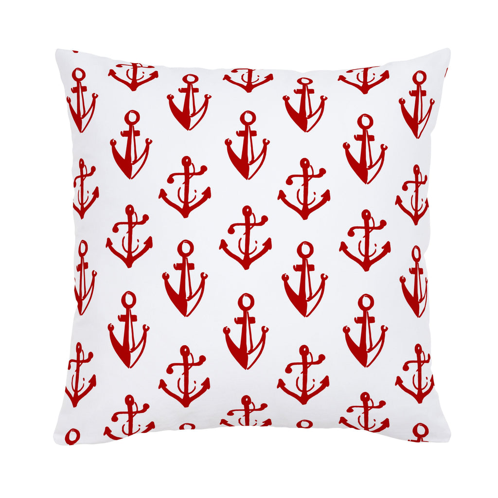 Product image for Red Anchors Throw Pillow