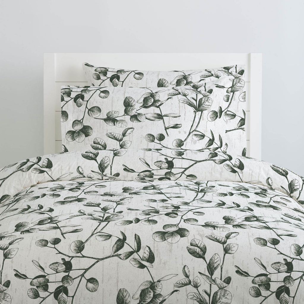 Product image for Dark Green Eucalyptus Duvet Cover