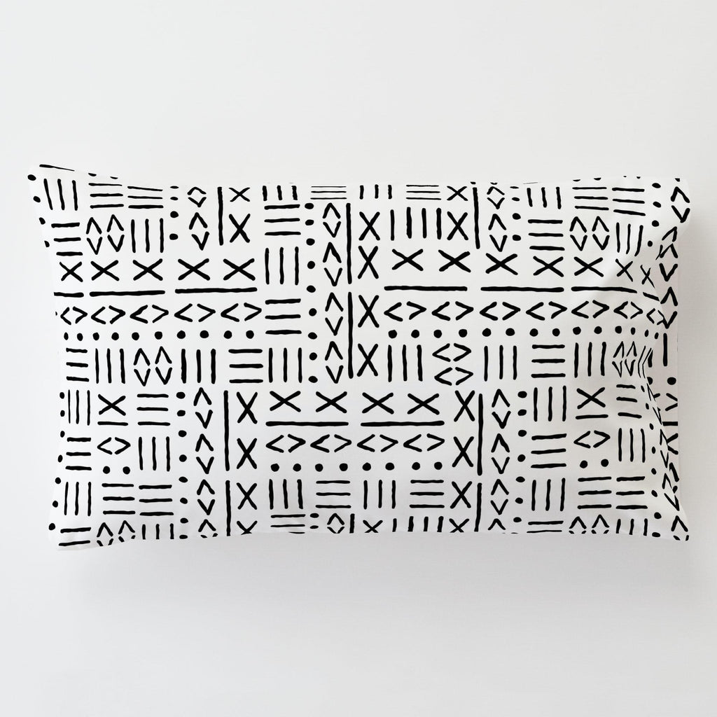 Product image for Onyx Mudcloth Toddler Pillow Case with Pillow Insert