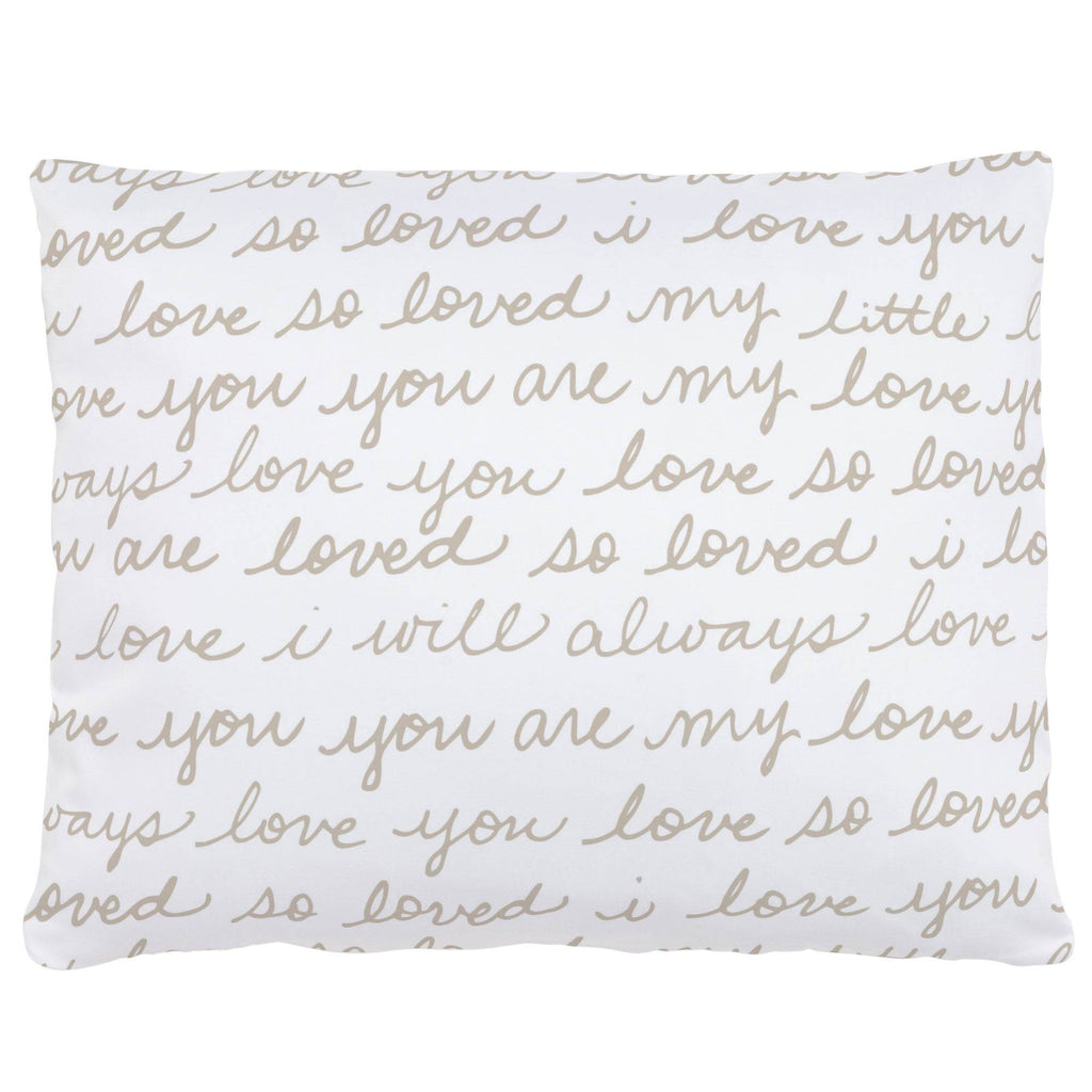 Product image for Taupe Love Words Accent Pillow