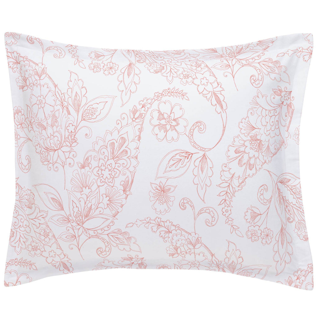 Product image for Light Coral Sketchbook Floral Pillow Sham