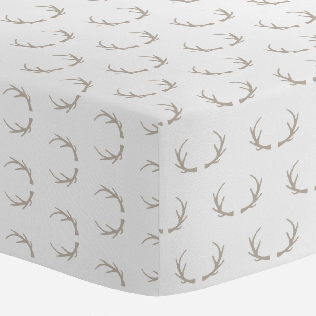 Product image for Taupe Antlers Crib Sheet