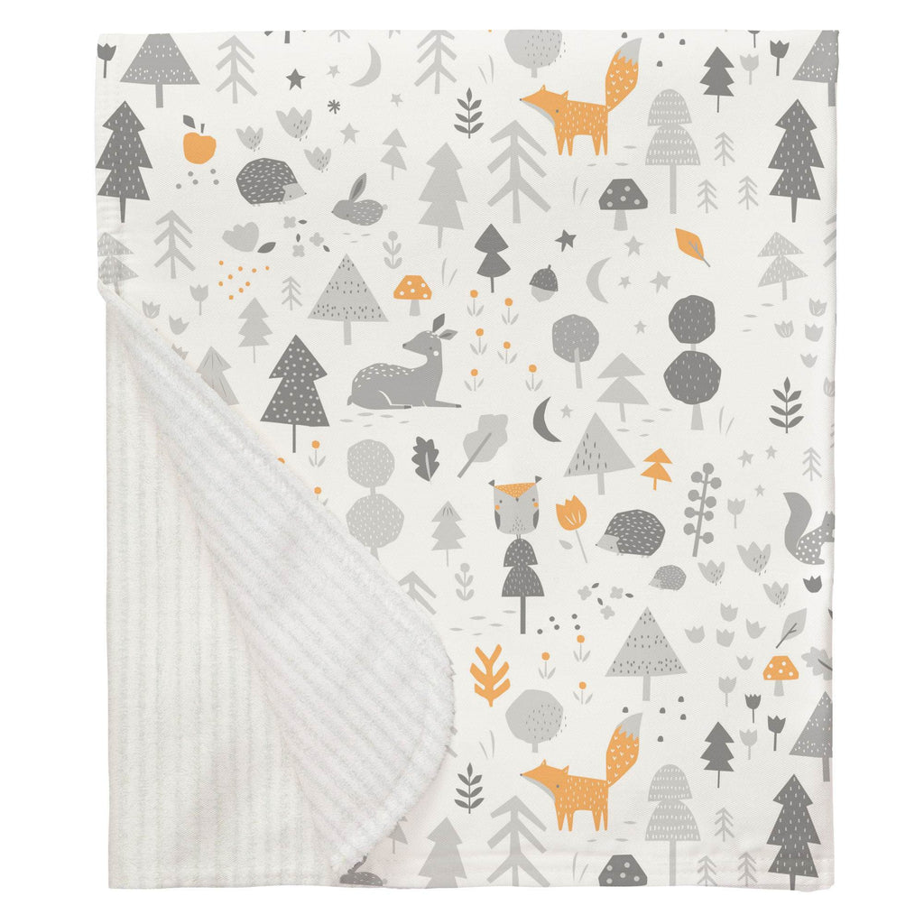 Product image for Light Orange and Silver Gray Baby Woodland Baby Blanket