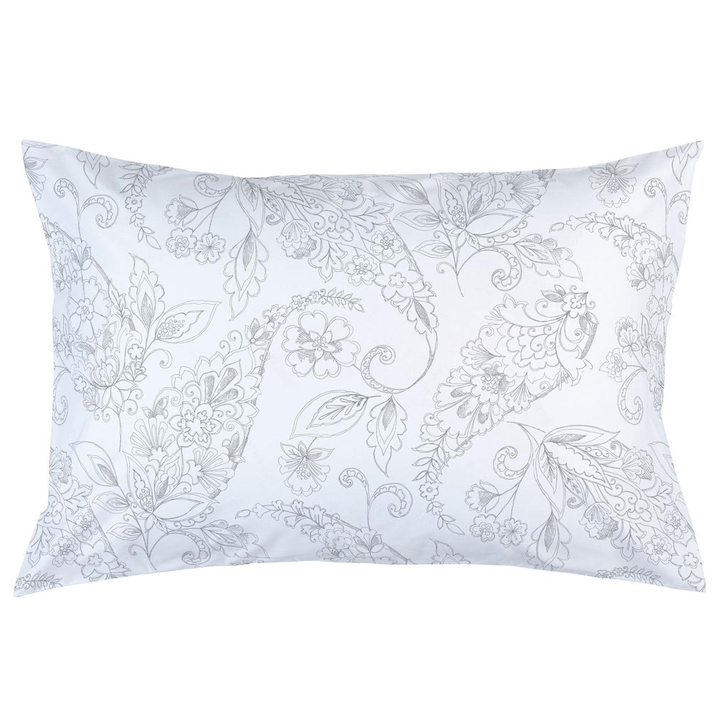 Product image for Cloud Gray Sketchbook Floral Pillow Case