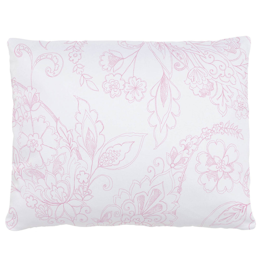 Product image for Bubblegum Sketchbook Floral Accent Pillow