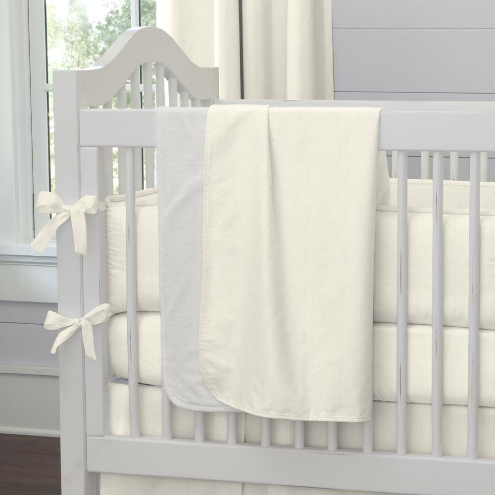 Product image for Solid Ivory Baby Blanket