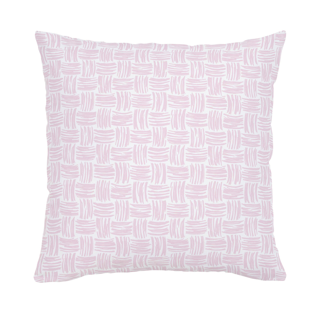 Product image for Pink Basket Weave Throw Pillow