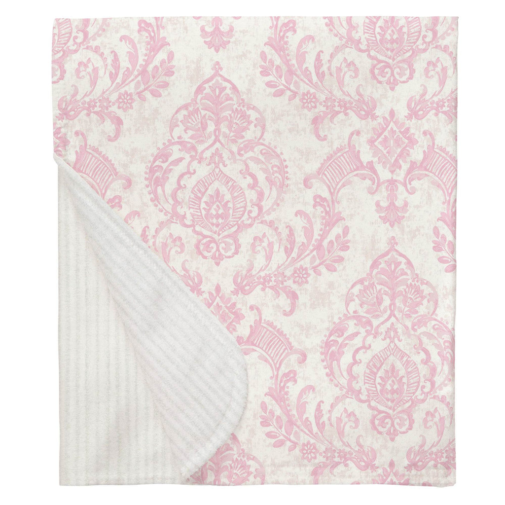 Product image for Pink Painted Damask Baby Blanket