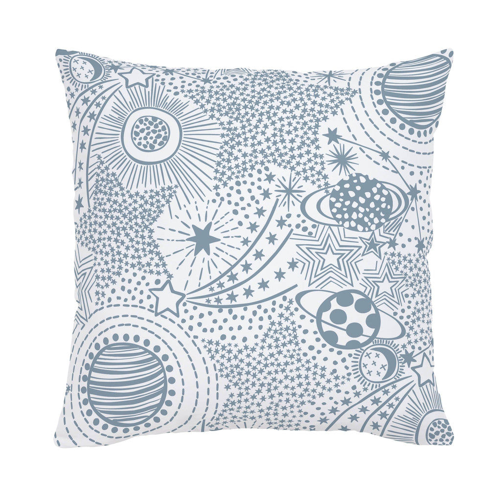 Product image for Steel Blue Galaxy Throw Pillow