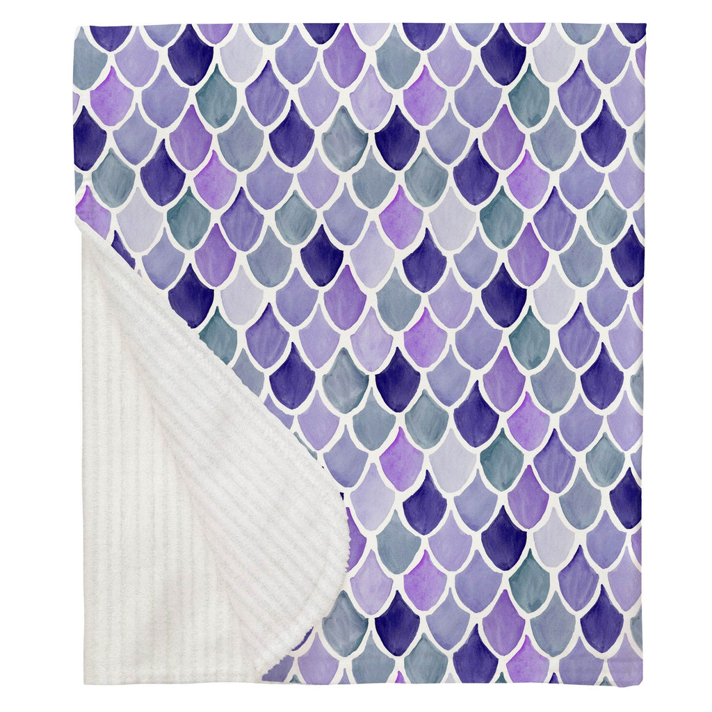 Product image for Lilac Watercolor Scales Baby Blanket