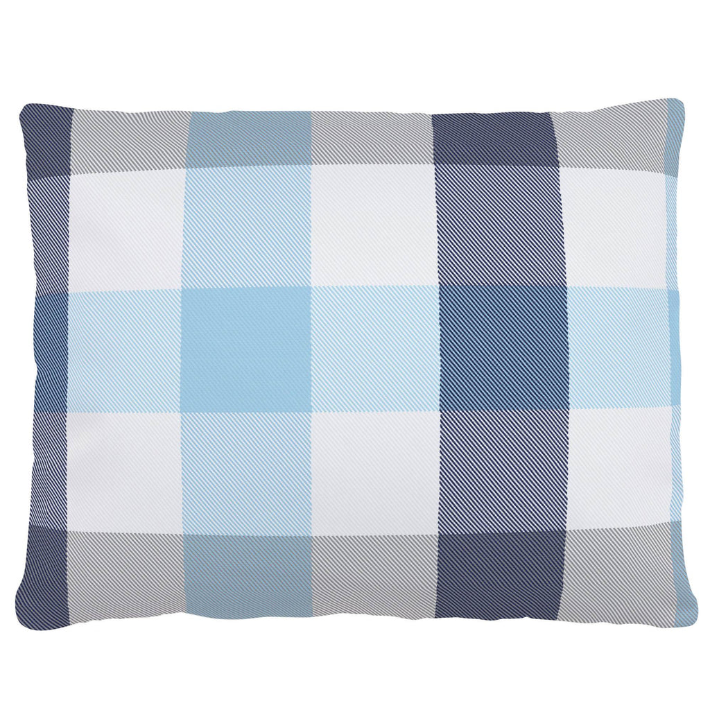 Product image for Navy and Lake Blue Buffalo Check Accent Pillow