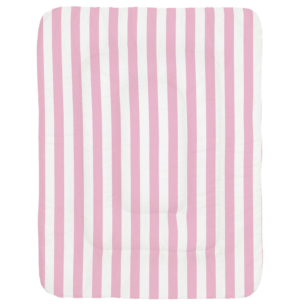Product image for Bubblegum Pink Stripe Crib Comforter