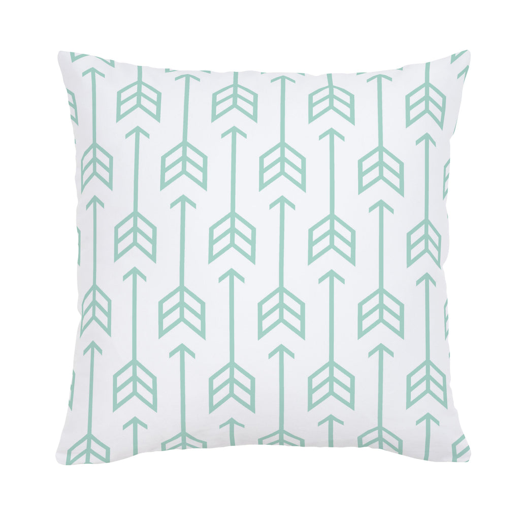 Product image for Mint Arrow Throw Pillow