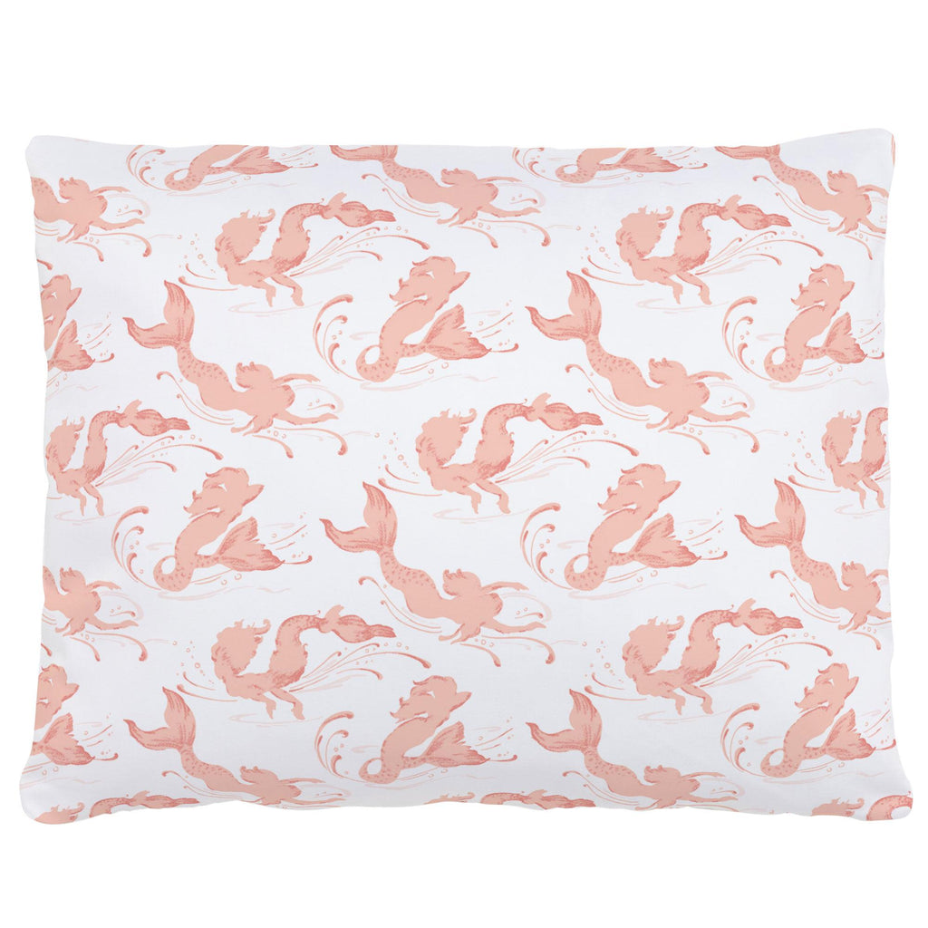 Product image for Peach Swimming Mermaids Accent Pillow