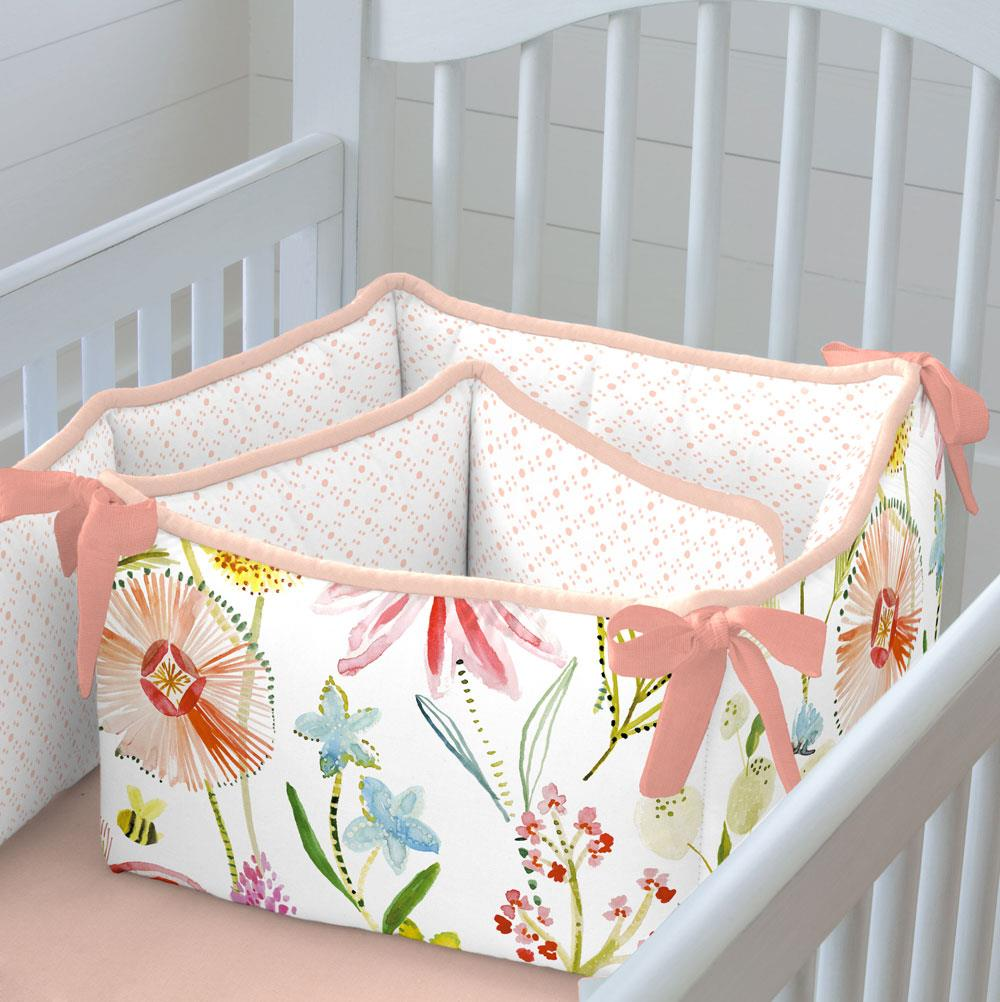 Product image for Watercolor Springtime Crib Bumper