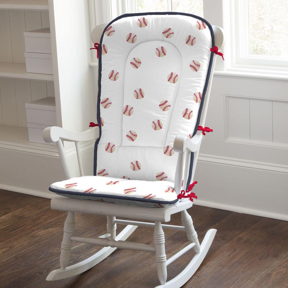 Product image for Watercolor Baseball Rocking Chair Pad