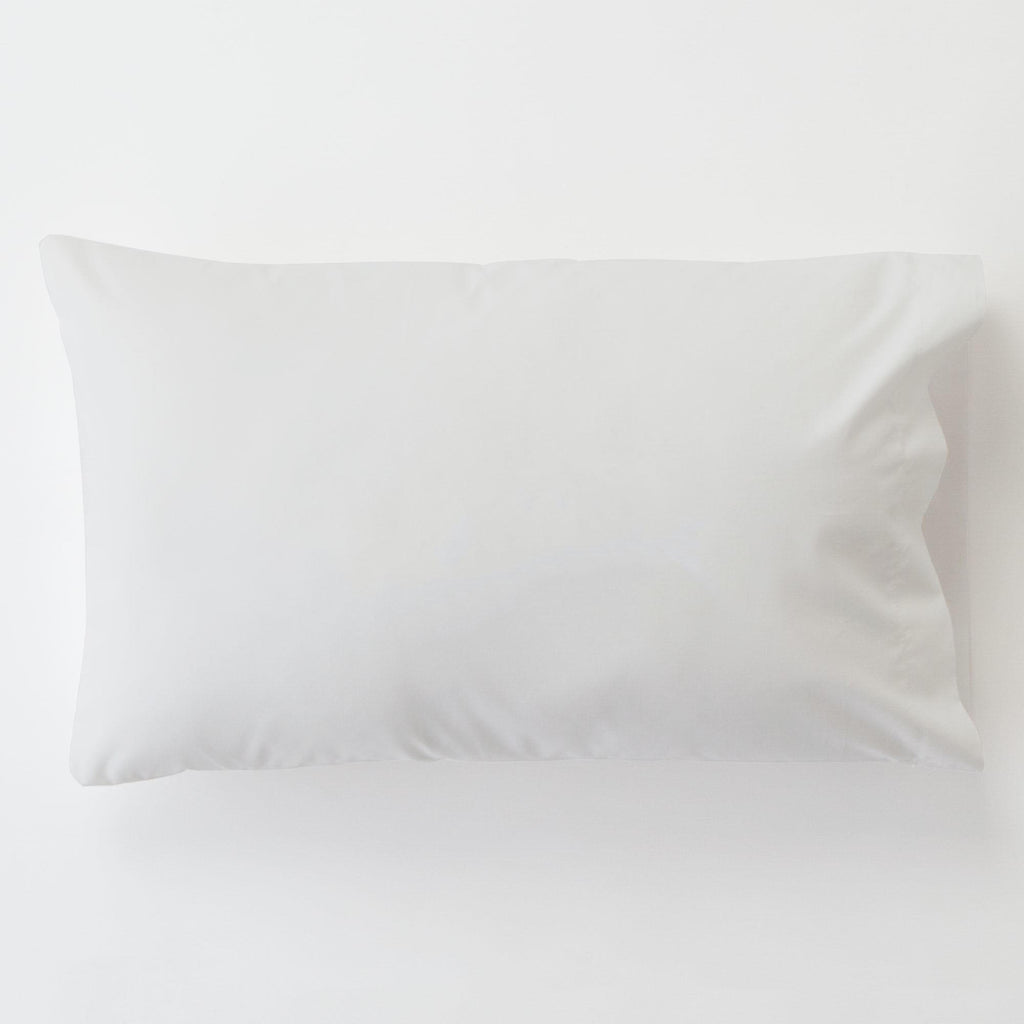 Product image for Solid White Toddler Pillow Case with Pillow Insert