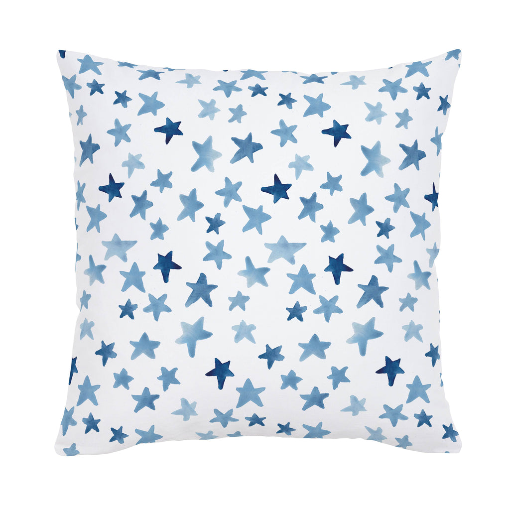Product image for Blue Watercolor Stars Throw Pillow