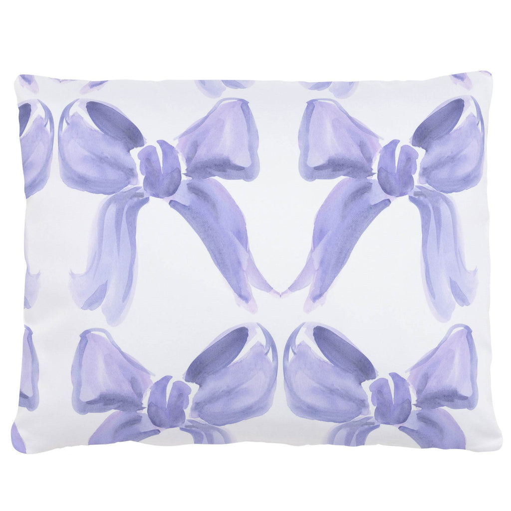Product image for Lilac Watercolor Bows Accent Pillow