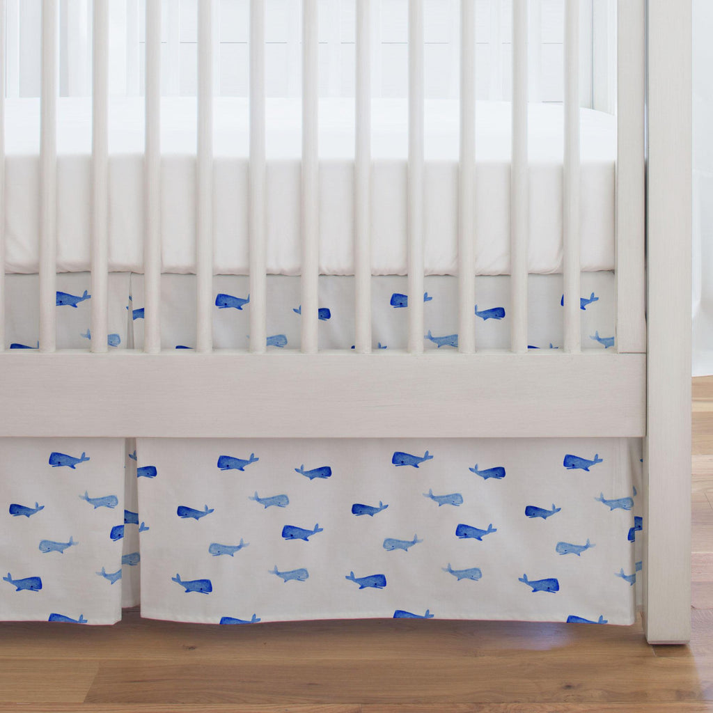 Product image for Whale of a Tale Crib Skirt Single-Pleat