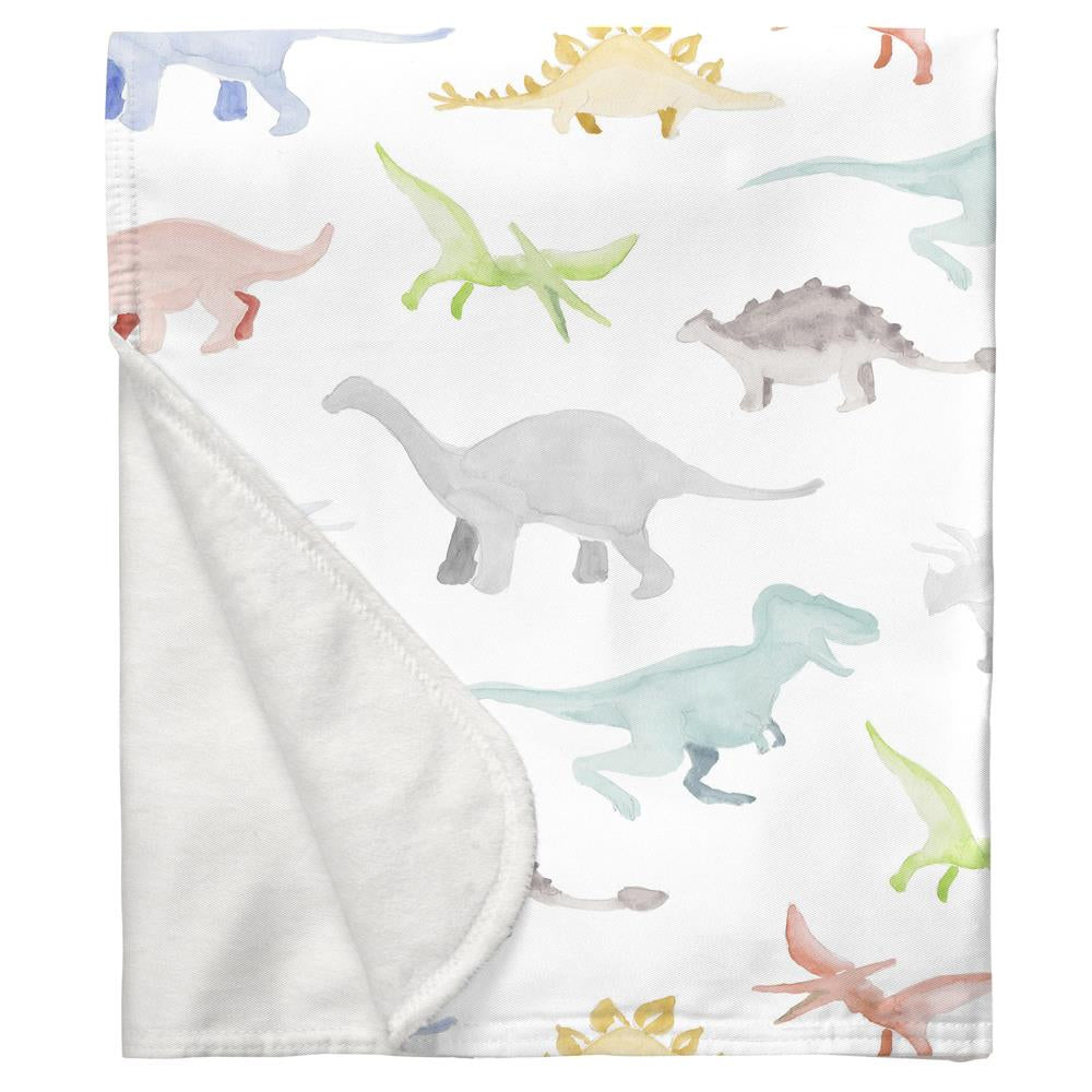 Product image for Watercolor Dinosaurs Baby Blanket