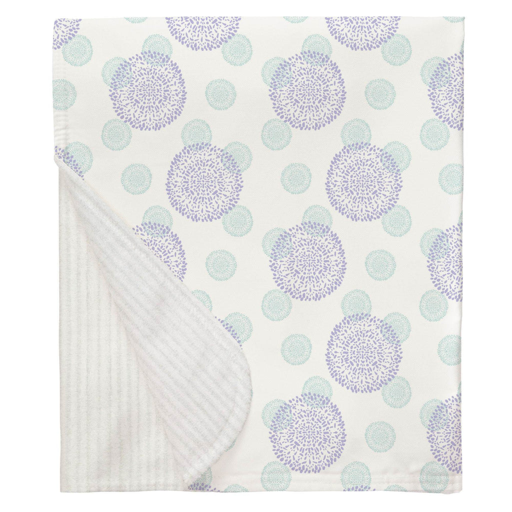 Product image for Lilac and Mist Dandelion Baby Blanket