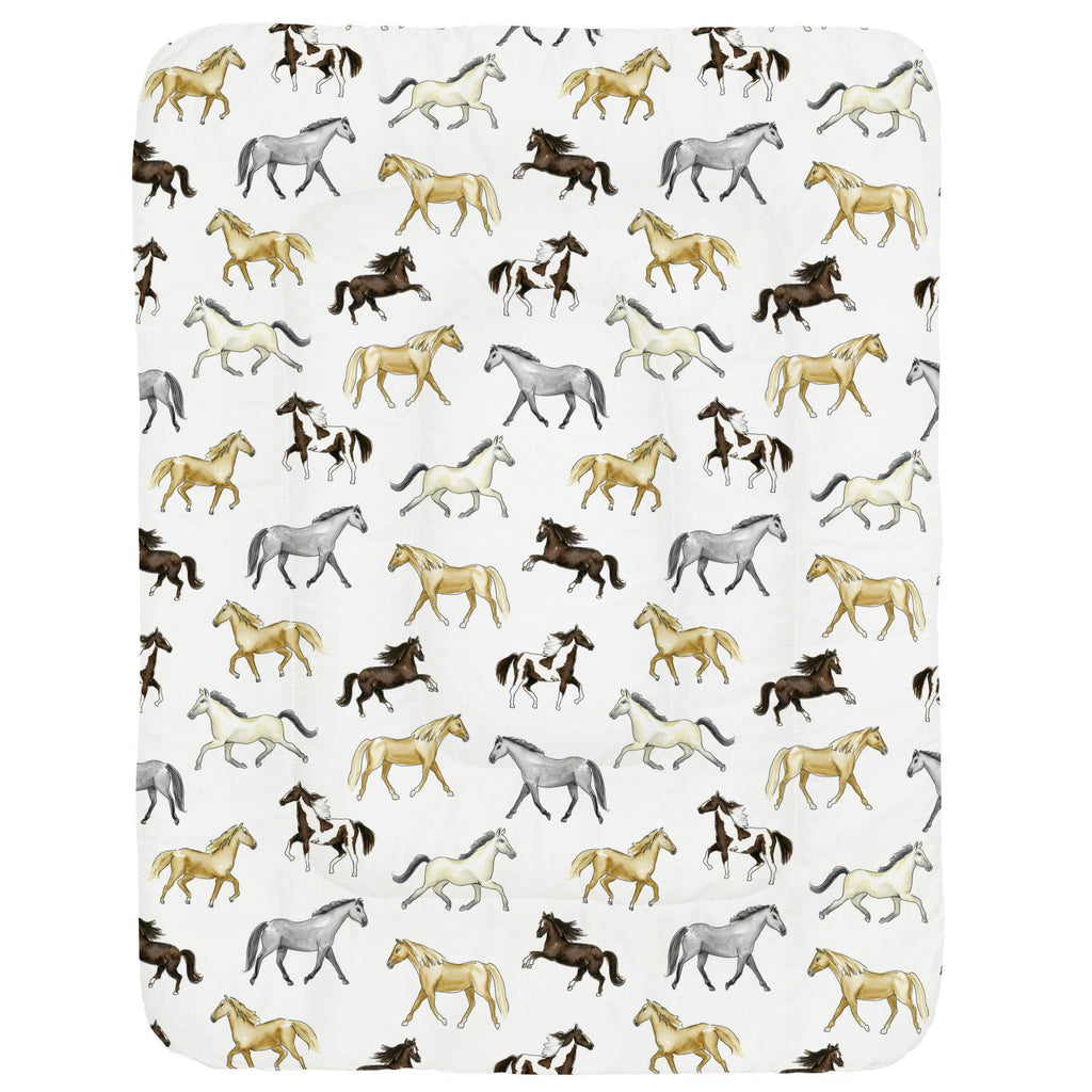 Product image for Watercolor Horses Crib Comforter
