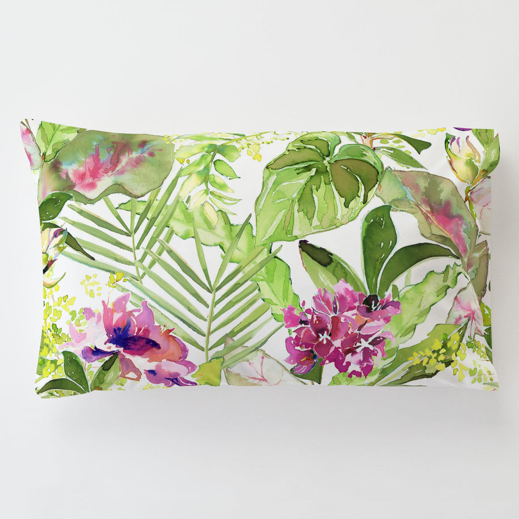 Product image for Tropical Garden Toddler Pillow Case with Pillow Insert