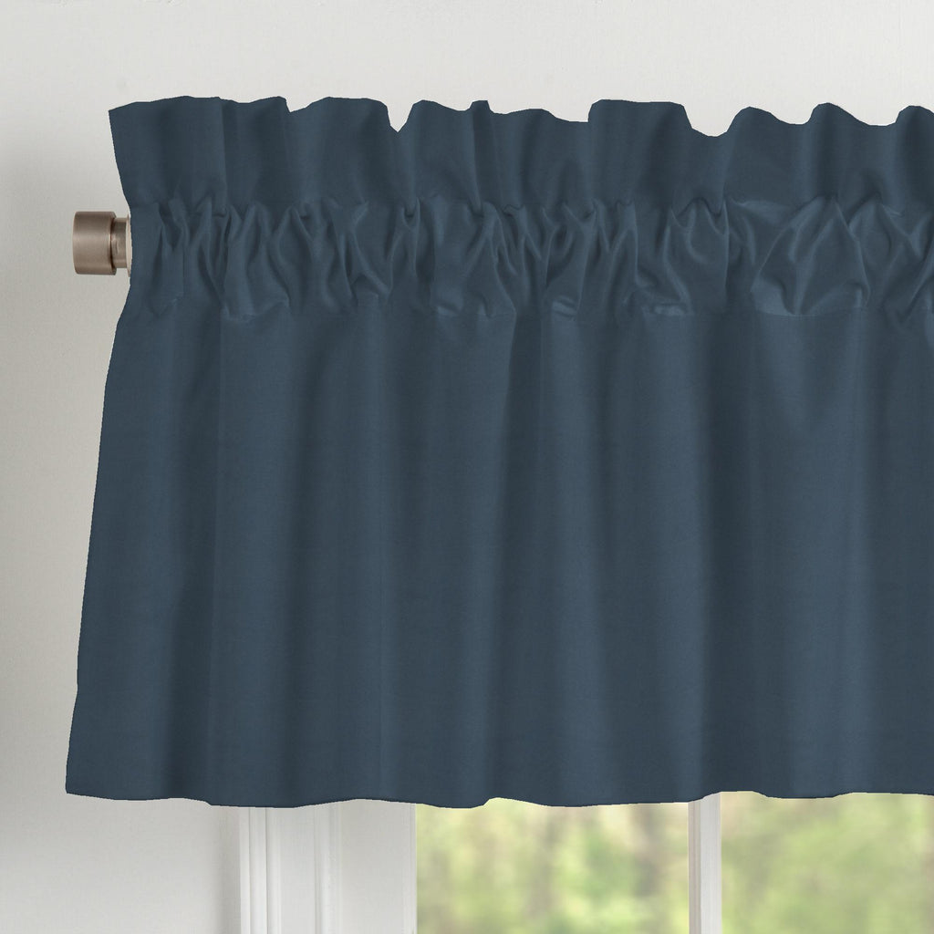 Product image for Solid Navy Window Valance