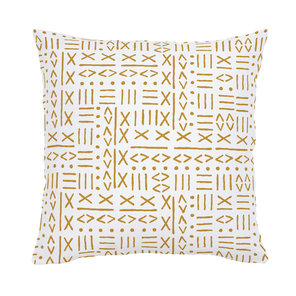 Product image for Mustard Mudcloth Throw Pillow
